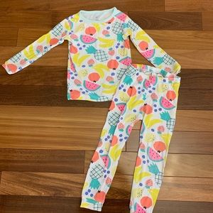 Baby gap toddler girl fruit pajamas size 4T